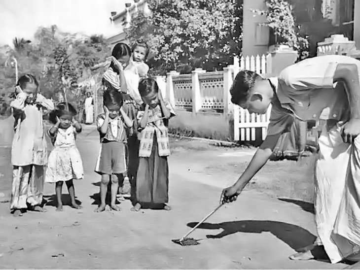 1960 ਦੇ ਦਹਾਕੇ ਦੀ ਦੀਵਾਲੀ ਦਾ ਦ੍ਰਿਸ਼।